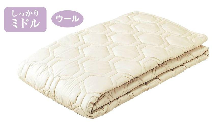 東京西川産業 CN5421 CNF1405423ダブル ウールパッド 羊毛ベッド汗取り ミディアム 日本製寝具 送料無料