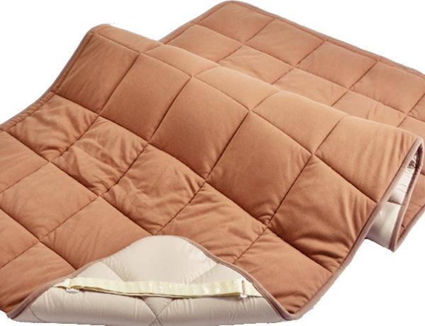 東京西川 C7017 CM37859016 クイーン/ワイドダブル キャメルベッドパッド ベッド汗取り ラクダ 日本製寝具 送料無料