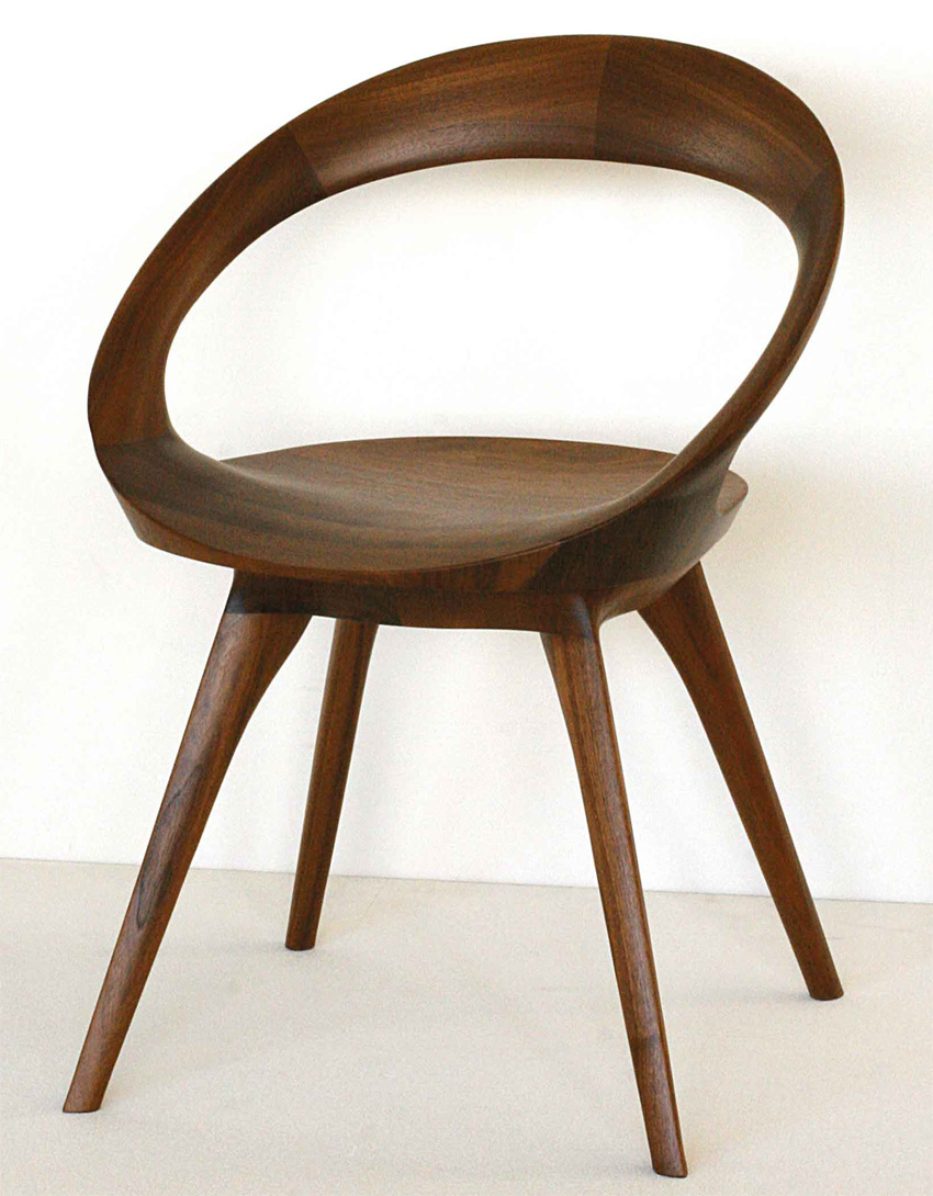 起立木工 アネロ 回転座面 ウォールナットチェアー 椅子 デザイナー風 オイル塗装・ウレタン塗装 日本製 送料無料