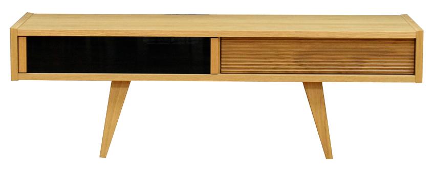 レグナテック ポンテ125 テレビボード TV台 テレビ台 ガラスシンプルナチュラル 脚タイプ ウォールナット・ホワイトオーク 木製 送料無料 日本製