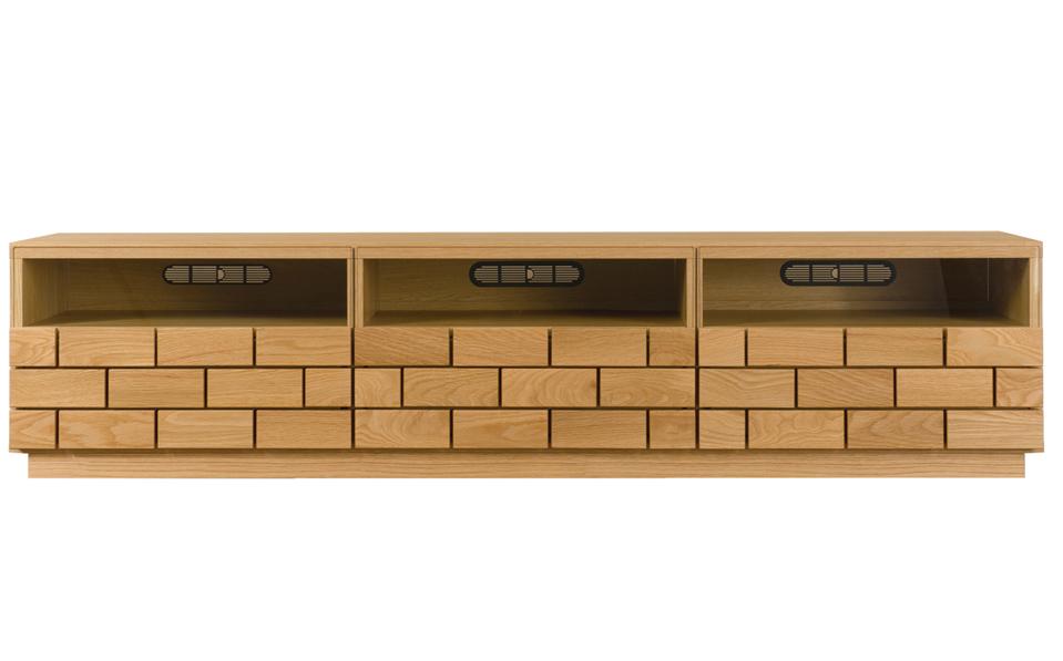レグナテック ブロッコ185 テレビボード TV台 テレビ台 ガラス シンプルナチュラル レンガ調 ウォールナット・ホワイトオーク 木製 送料無料 日本製
