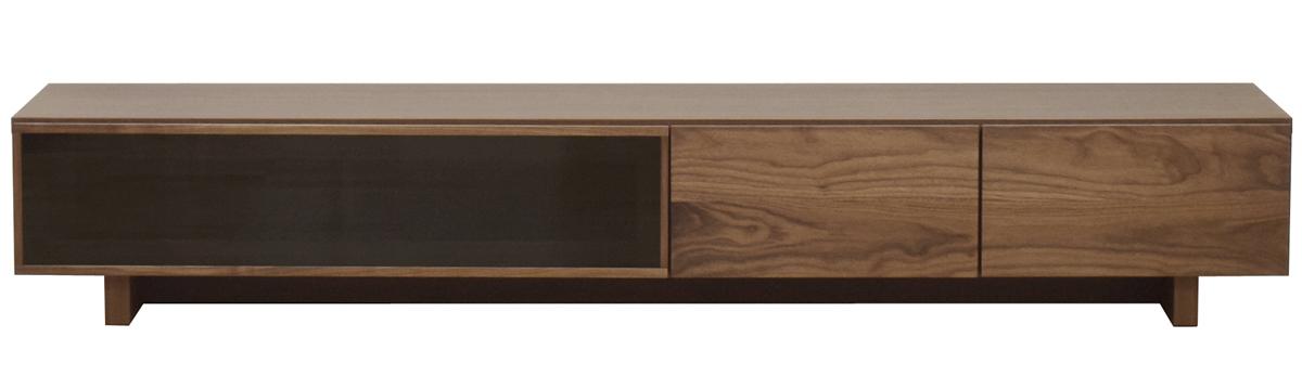 レグナテック クレスポTV200 リビングボード テレビボード TV台 テレビ台 ガラスシンプルナチュラル ブラックガラウス ウォールナット 木製 LEGNATEC クラッセ CLASSE Grosse 日本製家具