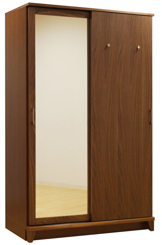 レグナテック サーラ120スライドワードローブ 収納たんす ブレザータンス スーツ背広掛け ウォールナット ホワイトオーク天然木 送料無料 日本製