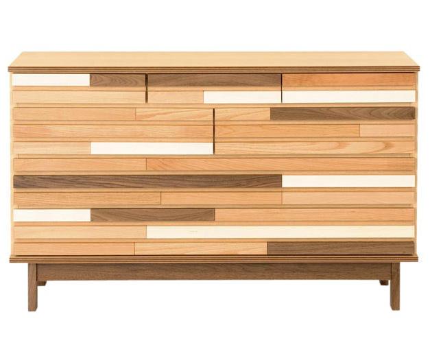 レグナテック プック・120ミドルチェスト ドロアーボックス 収納 無垢天然木チェスト ウォールナット ナチュラル 箪笥 送料無料 日本製