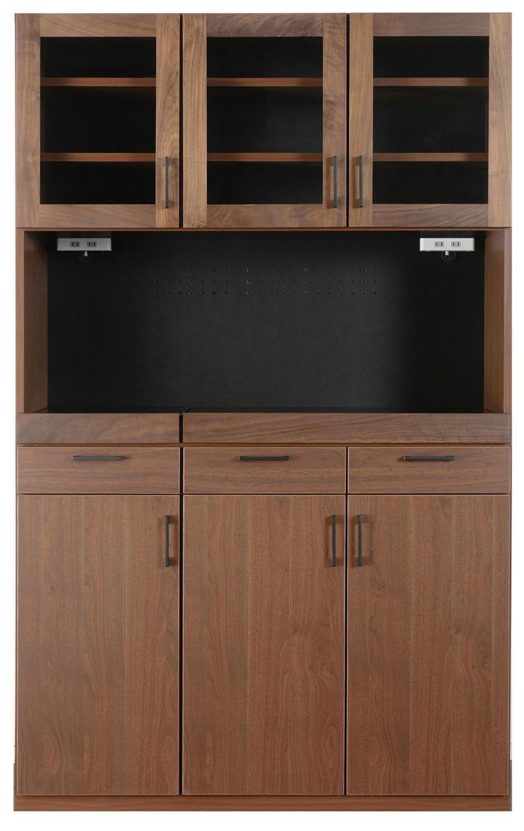 レグナテック メリッサ120キッチンボード 食器棚 キッチン収納 ダイニングボード シンプルナチュラル ウォールナット・ホワイトオーク 木製 送料無料 日本製