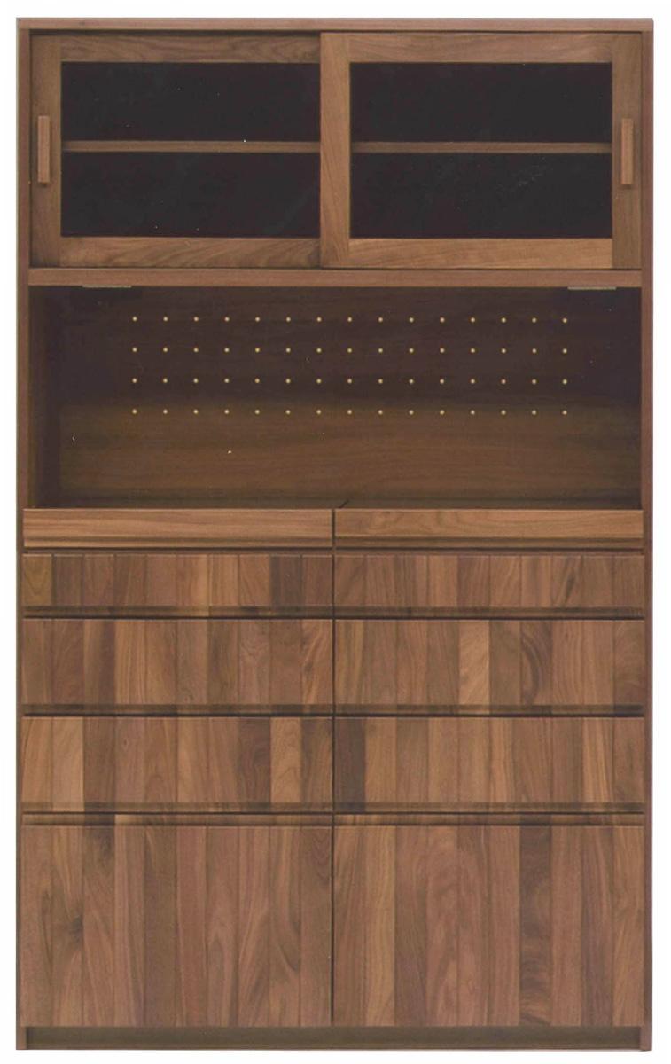 レグナテック グラード120キッチンボード 食器棚 キッチン収納 ダイニングボード シンプルナチュラル ウォールナット・オーク 木製 送料無料 日本製