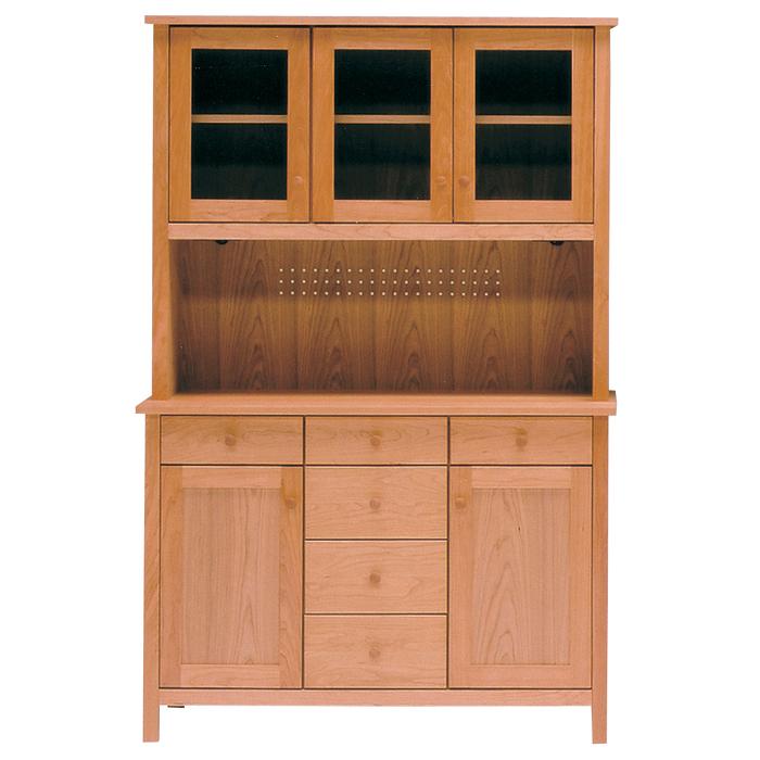 レグナテック リーヴス120キッチンボード 食器棚 キッチン収納 ダイニングボード シンプルナチュラル ウォールナット・ホワイトオーク 木製 送料無料 日本製