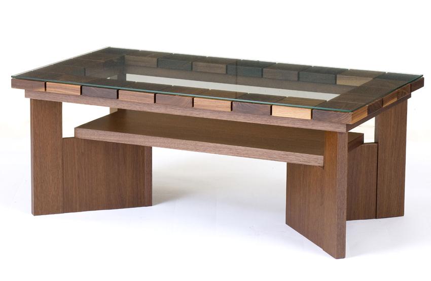 レグナテック コット115 ガラスリビングテーブル センターテーブル ソファー机 長方形タイプ シンプルナチュラル ウォールナット・オーク コーヒーテーブル 木製 送料無料 日本製