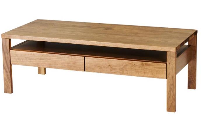 レグナテック ヴィータ110 リビングテーブル センターテーブル ソファー机 小引き出し 収納 シンプルナチュラル ウォールナット・ホワイトオーク 木製 送料無料 日本製