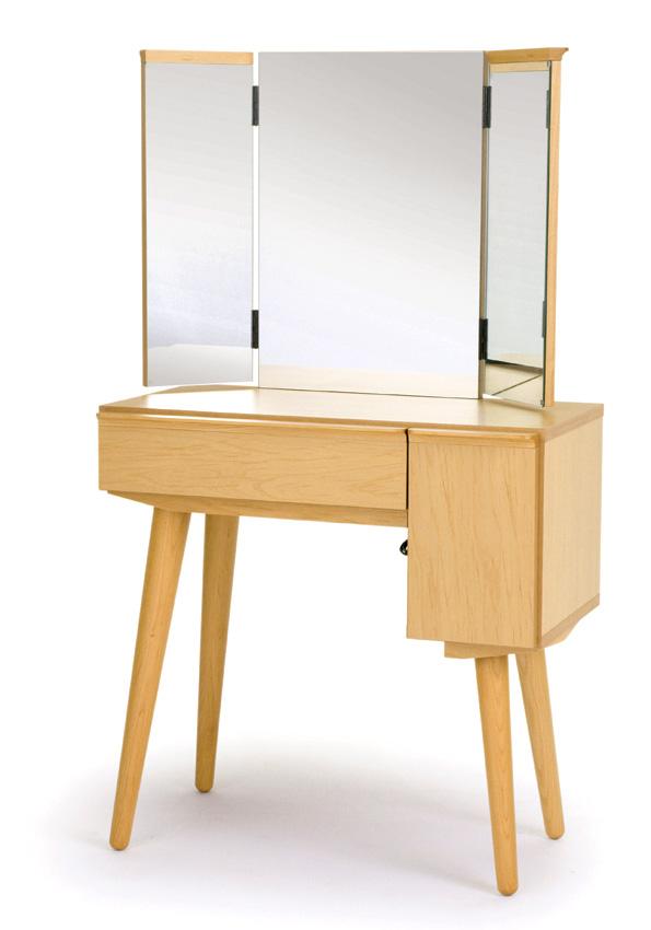 レグナテック ティペット2 ドレッサー 鏡台 半三面鏡 コンパクト かわいい 送料無料 日本製家具
