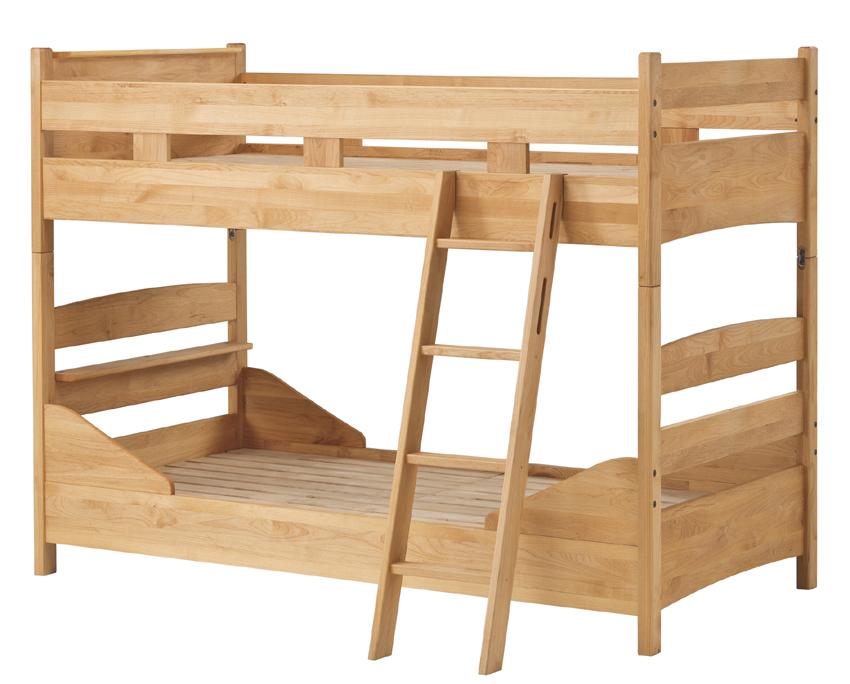 堀田木工 forest フォレスト 二段ベッド 兄弟ベッドシングルベッド×2ナチュラル アルダー材 天然木無垢 自然素材 カントリーシンプル 送料無料 完成品 オイル仕上げ 木製