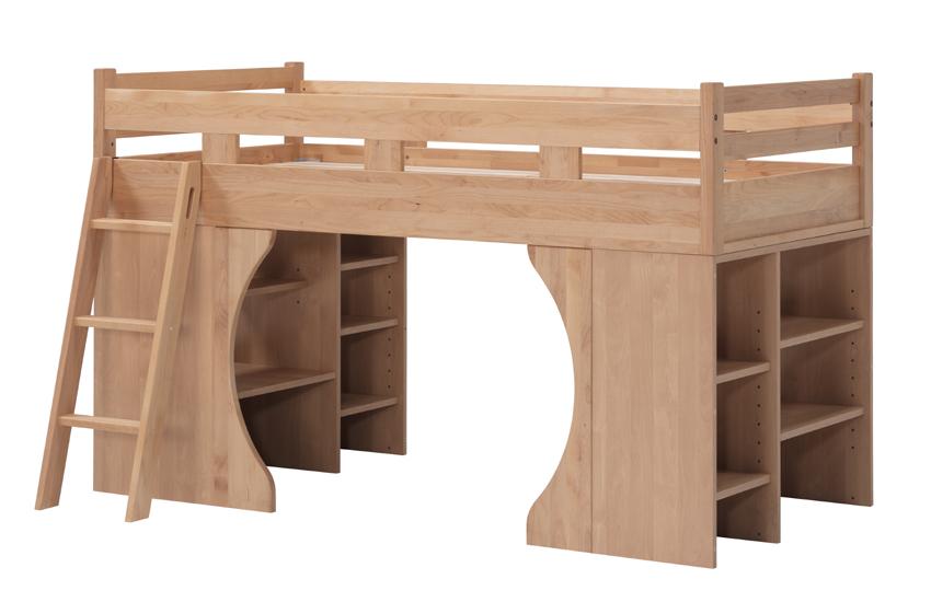 堀田木工park パークシステムベッド シングルベッド ナチュラル アルダー材 天然木無垢 自然素材 カントリーシンプル ロフト 子供部屋 送料無料 完成品 オイル仕上げ 木製 日本製