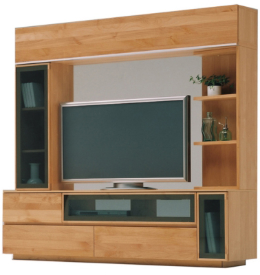 壁面収納リッツAシリーズ 170サイズ TVテレビボード リビングボード テレビ台 ナチュラル ナラ楢 堀田木工 日本製 送料無料