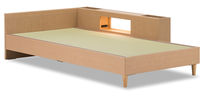 フランスベッド タタミーノF-1サイドキャビネット シングル ナチュラル タタミベッド 和紙たたみ 畳ベッド フラット レッグタイプ日本製 送料無料 フレームのみ