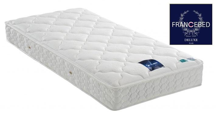 フランスベッド 硬さが選べる LT-300Nスモールシングルマットレス デラックス ライフトリートメント レストマティックスプリング ダブルニット両面仕様 送料無料 日本製寝具