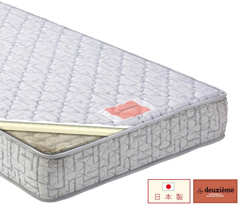 フランスベッド DE-P200 セミダブル ポケットコイルスプリングマットレス ミディアム ラドゥーゼム 日本製 送料無料