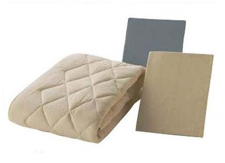 フランスベッド クランフォレスト英国高級羊毛3点ベッドパックメーキングセット クイーン ベッドパッド&シーツ2枚セット 布団カバーセット マットレスカバー 寝装品 送料無料