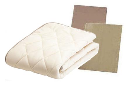 フランスベッド LT 羊毛ベッドパッド ウール3点ベッドパッドメーキングセット シングル ベッドパッド&シーツ2枚セット 布団カバーセット マットレスカバー 送料無料