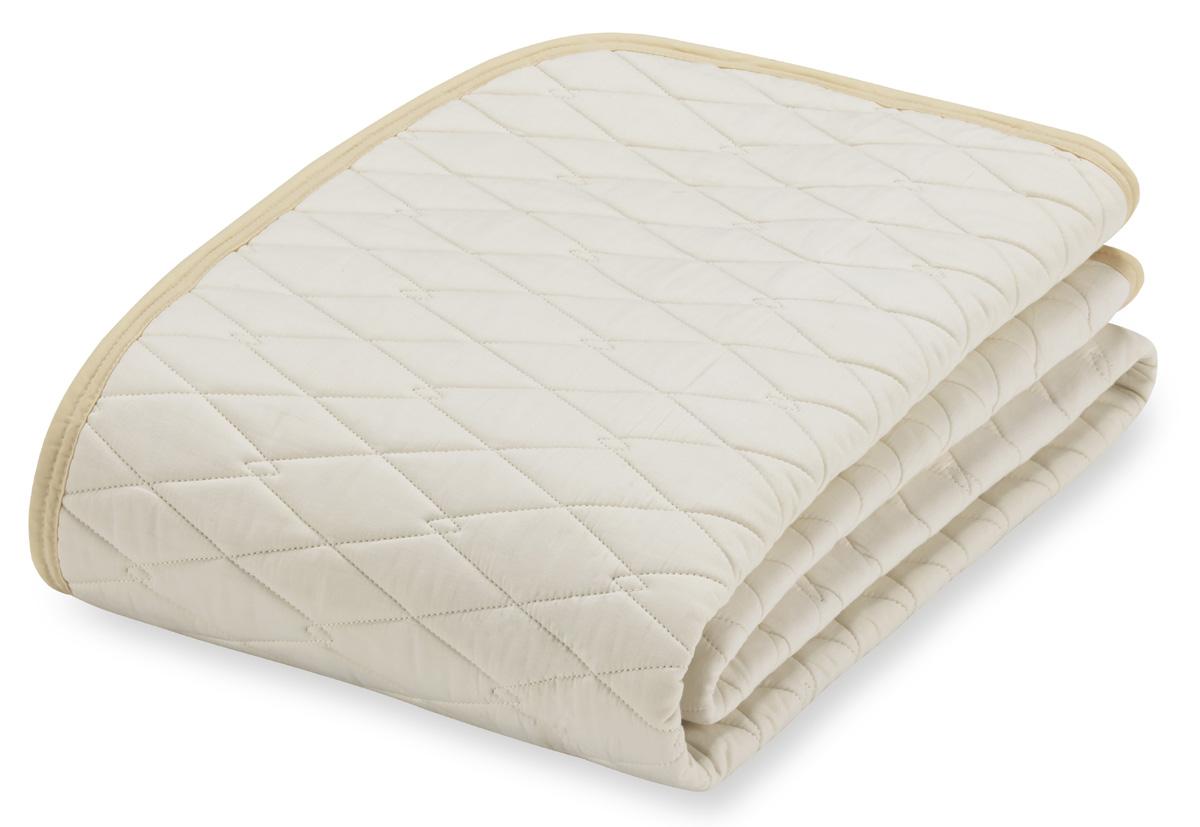 フランスベッド コットンメッシュベッドパッド ダブル 綿ハードタイプ 布団カバー 寝装品 送料無料