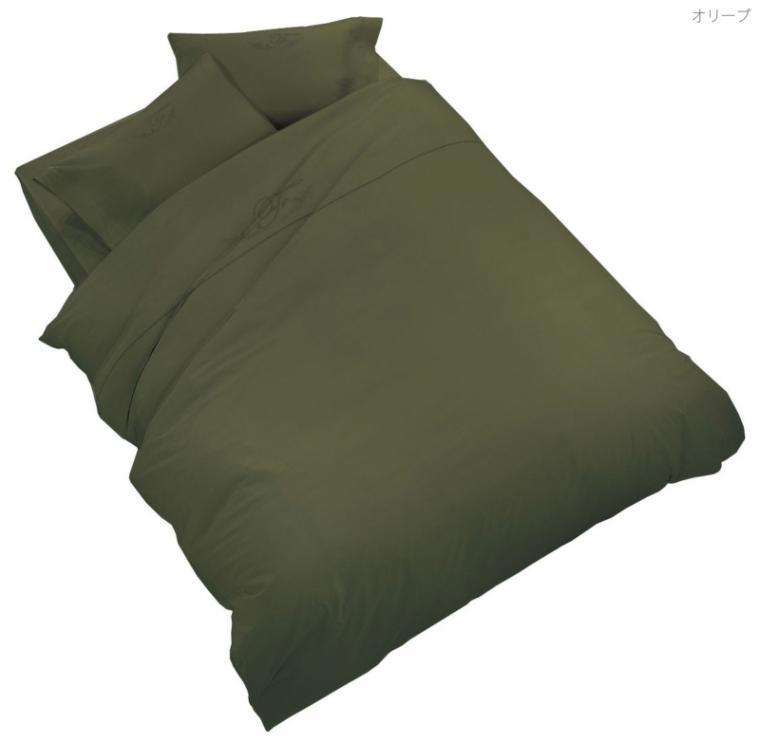 フランスベッド UR-022 アージクロス セミダブル グリーンオリーブ・ホワイト 布団カバー マットシーツ コンフォーターケース・ピローケース・ボックスシーツセット 寝装品 送料無料