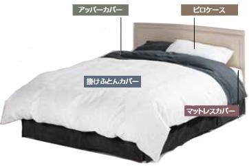 10年保証 フランスベッド クイーン ホテルズセレクトベッドメーキングセット インペリアルimperialクラス 寝装品セット 羽毛掛ふとん 羽毛布団 日本製寝具 送料無料 送料込み