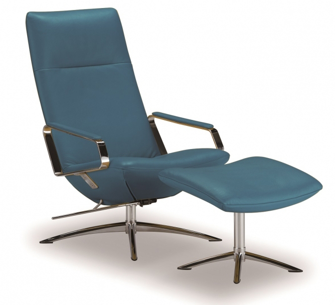 フランスベッドKEBE ケベKE-27Pブルー オーナーズチェア 本革 1Pソファ パーソナルチェア リクライニング椅子 送料無料 家具