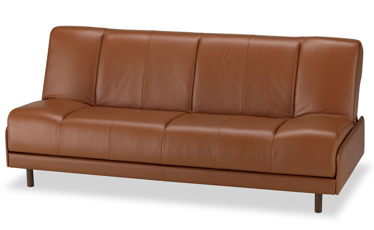 フランスベッド ルーカス 本革ソファーベッド シングルサイズ ソファーベッド ブラウン ブラック 送料無料