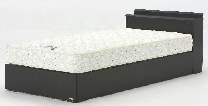 フランスベッドNLS-603SC シングル ノーマルタイプ 箱型 宮付き 木製 おすすめ 使いやすい シンプル 棚付きコンセント付き ダーク 日本製家具 送料無料 マットレス付き
