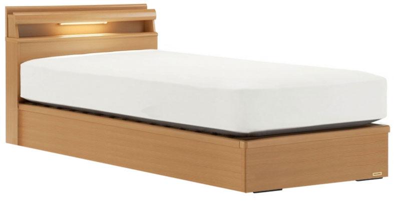 フランスベッド RD-L204C SC シングル 棚付き・LED照明キャビネット付き ノーマルタイプ 箱型 照明付き 日本製家具 送料無料 フレームのみ