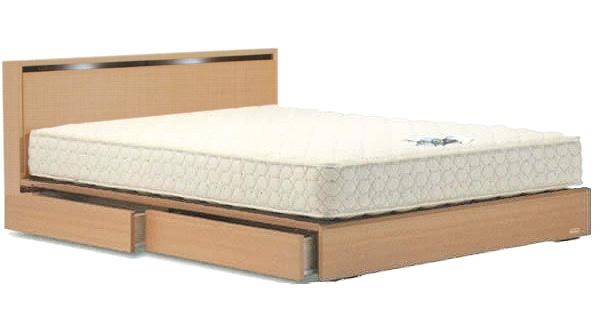 フランスベッド ネクストランディ302C セミダブル ドロアータイプ・引出付き 照明・小棚・キャビネット 木製 日本製家具 ナチュラル ダーク 送料無料 フレームのみ