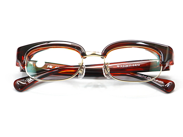 こだわり日本製メガネ【TO-010-C3】度付きレンズ付【送料無料】12mmの重厚感ありのセルブロー