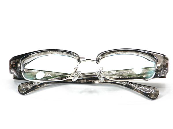 こだわり日本製メガネ【TO-011-C2】度付きレンズ付【送料無料】12mmの重厚感ありのセルブロー