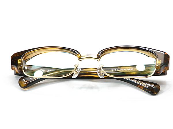 こだわり日本製メガネ【TO-011-C4】度付きレンズ付【送料無料】12mmの重厚感ありのセルブロー