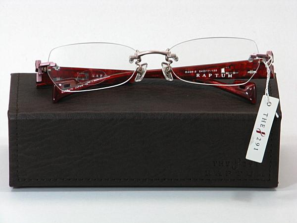 送料無料・純粋国産【THE 291】度付きレンズ付メガネセット【R408-3-C3】