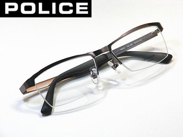 2014最新モデル・送料無料・ポリス【POLICE】度付きレンズ付【V8943J-568】ナイロール
