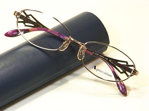 新品 本物・送料無料・アクアスキュータム【Aquascutum】度付きレンズ付【AQ-3005-C1】婦人用メガネ