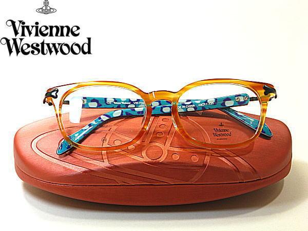 送料無料 ・ヴィヴィアン ウエストウッド【Vivienne Westwood】度付きレンズ付【VW-7040-YT】メンズ レディース・フルリム・セル枠