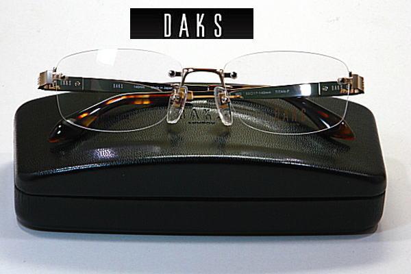 送料無料・ダックス【DAKS】度付きレンズ付【DA26354-WG】ツーポ
