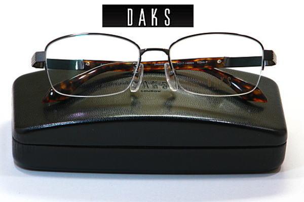 送料無料・ダックス【DAKS】度付きレンズ付【DA26356-DB】ナイロール