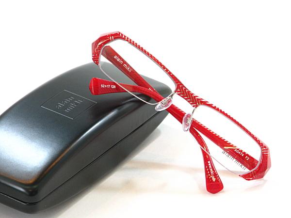 アランミクリ alain 最新号掲載アイテム mikli メガネ4点セット 度付きレンズ付き AO474-72 送料無料 メガネフレーム 安い ブランドフレーム