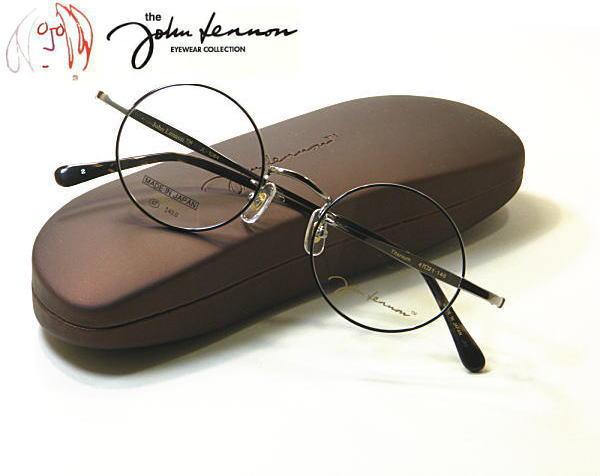 新型・あの伝説が復活!!John Lennon ジョンレノン 度付きレンズ付セット JL-1084-2 送料無料 丸メガネ