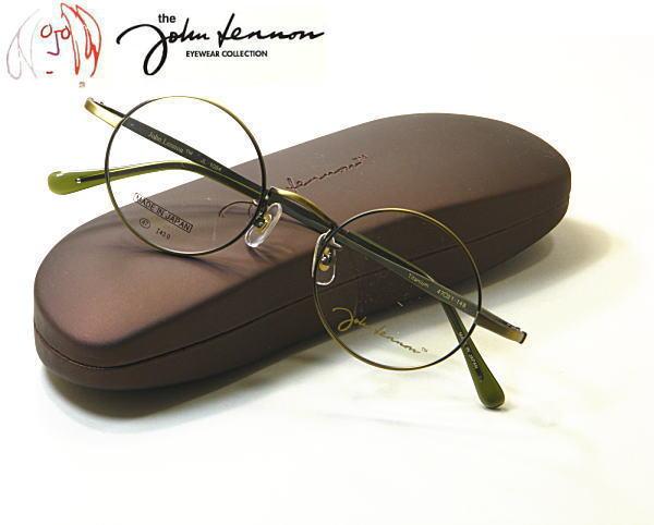 ジョンレノン クラシックメガネ 丸メガネ 訳ありセール 格安 オールドメガネ ビンテージメガネ 定番キャンバス 新型 度付きレンズ付セット 送料無料 John Lennon JL-1084-3 あの伝説が復活