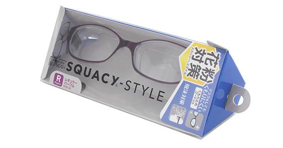 くもり止め 店内全品対象 防塵メガネ 花粉アレルギー UVカット 名古屋眼鏡 スカッシースタイル 花粉防止メガネ パープル マスクをしてもくもりにくい レギュラーサイズ 8732-03 一部予約