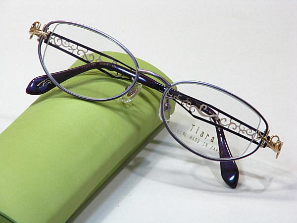 日本製メガネ【Tiara-101-C2】度付きレンズ付・送料無料