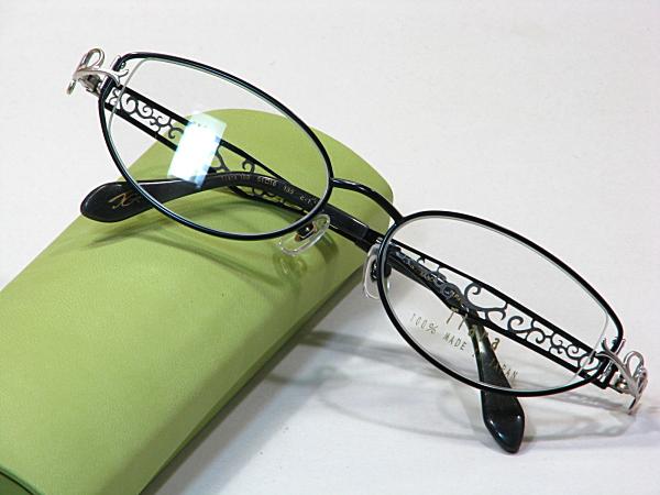 日本製メガネ【Tiara-102-C1】度付きレンズ付・送料無料