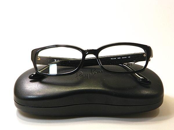 新型Ray-Ban・レイバン【RB5198-2000】度付きレンズ付・保証書付・黒セル枠・ブランドメガネ