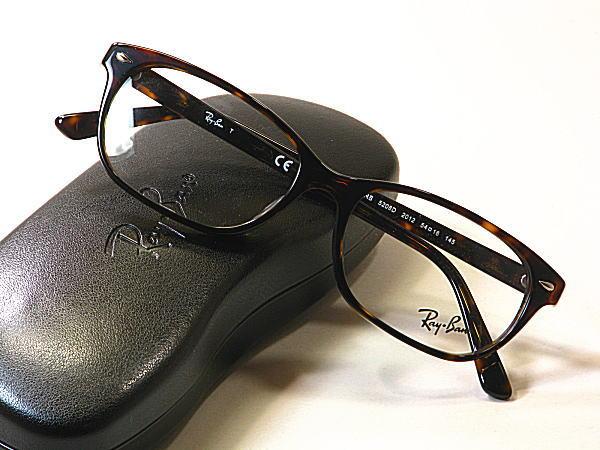 新型Ray-Ban・レイバン【RB5208-D-2012】度付きレンズ付・保証書付・黒セル枠・ブランドメガネ