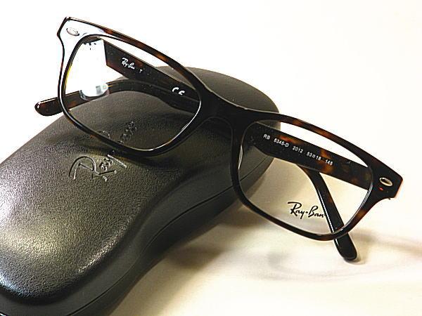 新型Ray-Ban・レイバン【RB5345-D-2012】度付きレンズ付・保証書付・黒セル枠・ブランドメガネ