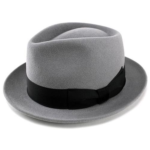 帽子 メンズ 高級フェルトハット 兎毛 帽子 中折れハット ウール 帽体 レディース 帽子 ハット シルバーグレー FUJI HAT フジハット [fedora] 送料無料 (大きいサイズ フェルト 帽子 ぼうし 中折れ帽 ウールハット フエルト ホワイトデー)