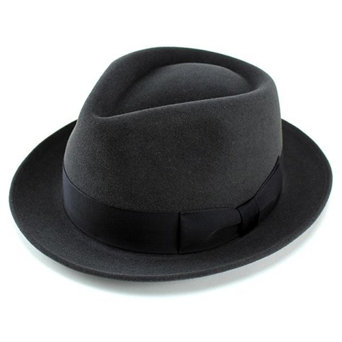 fe138f95cb4 Hats mens luxury felt rabbit hair turu Hat wool Cap body ladies Hat dark  grey FUJI ...